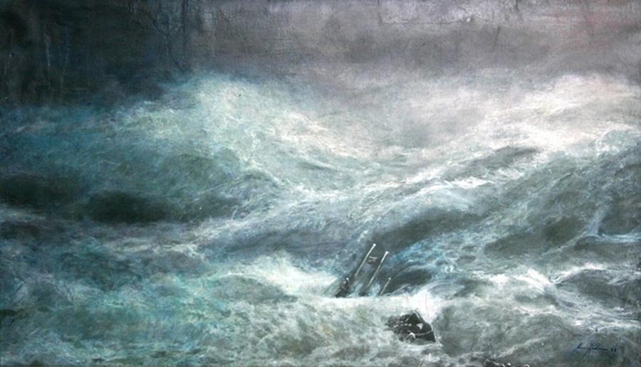 Aivazovsky Painting - a wave my way by Jarko by Jarmo Korhonen aka Jarko