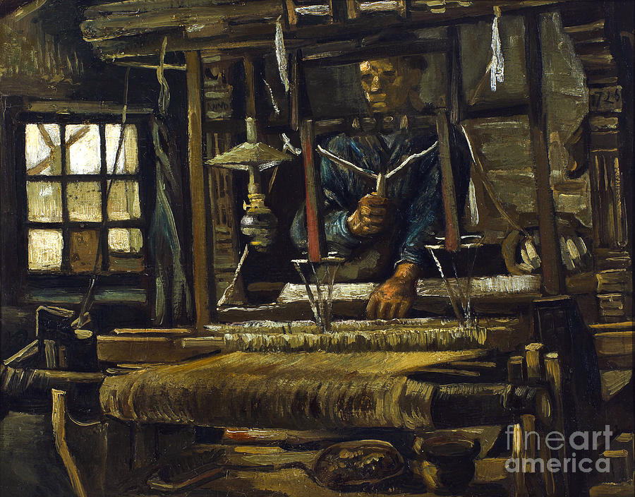 Claude Painting - A Weavers Cottage by Van Gogh