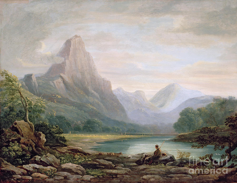 Welsh Painting - A Welsh Valley by John Varley