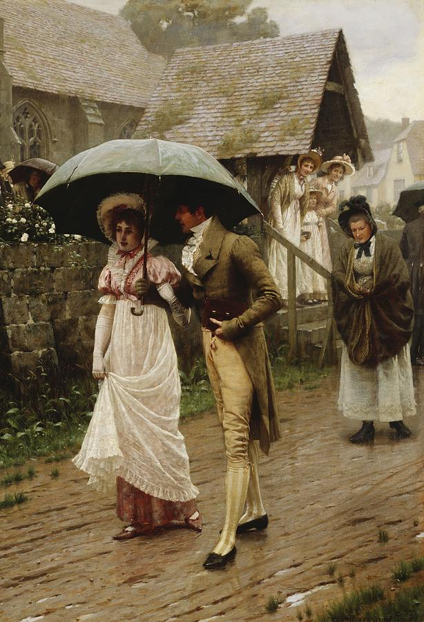 Wedding Painting - A Wet Sunday Morning by Edmund Blair Leighton