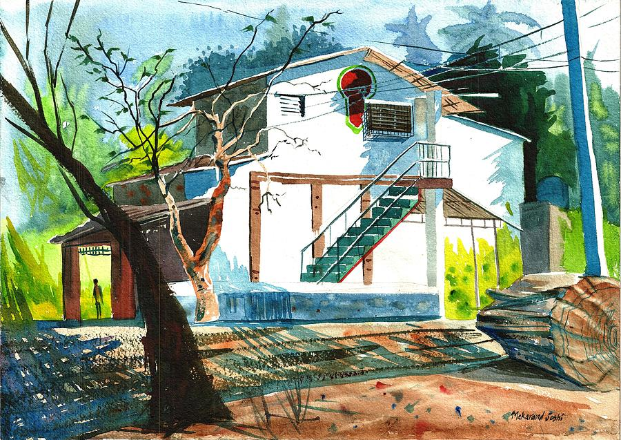 A white House in Sunshine by Makarand Joshi