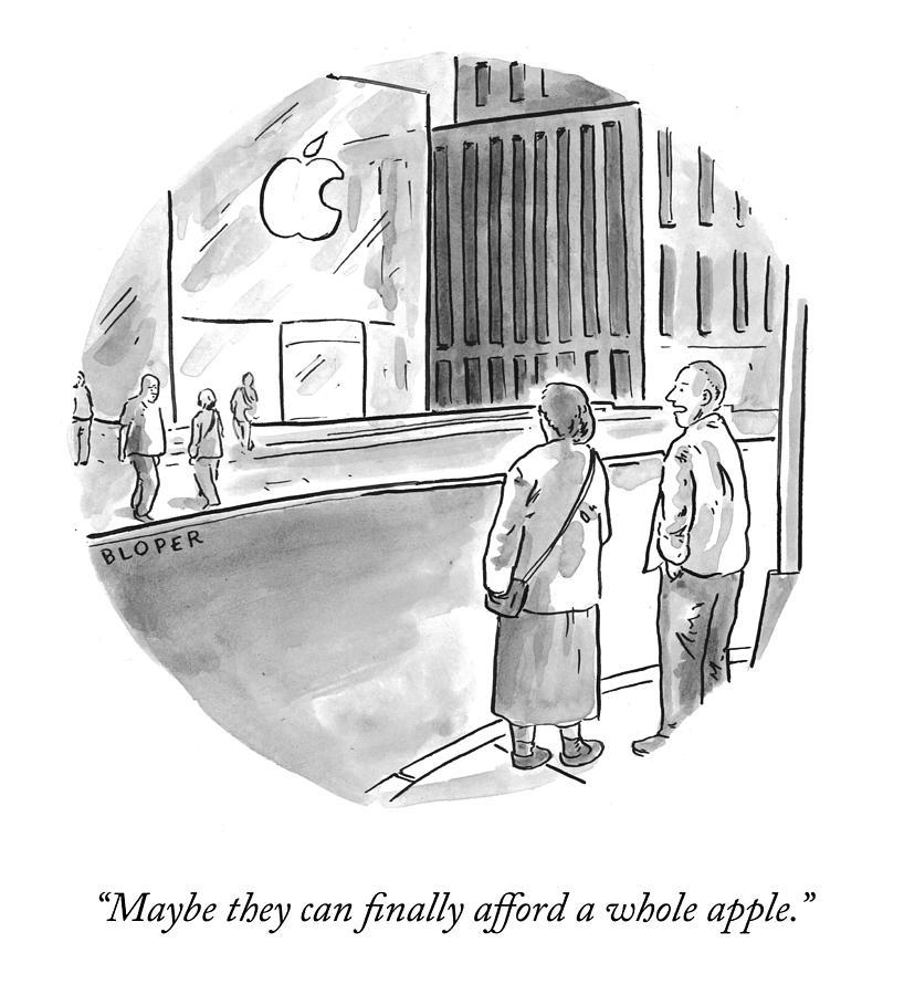 A Whole Apple Drawing by Brendan Loper