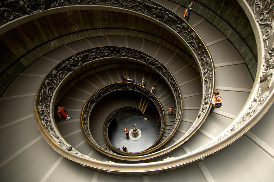 Delightful Staircase Photograph   A Winding Staircase In The Vatican By Joel Sartore