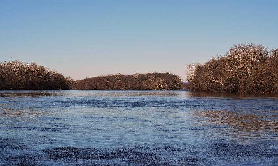 River Photograph - A Windswept River In March by Gregory Strong