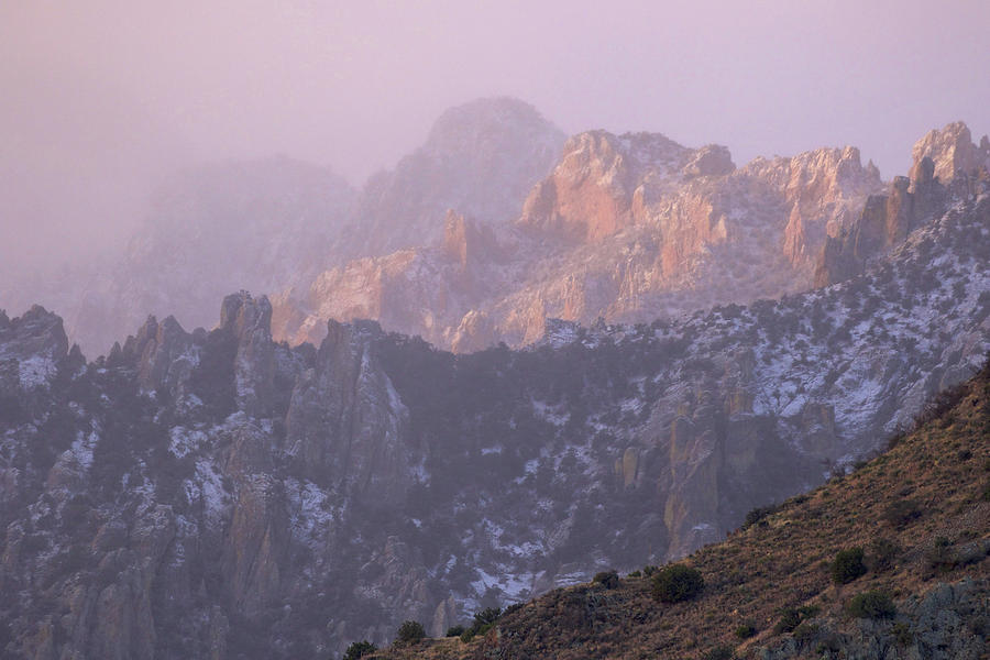 A Winter Morning At The Chiricahua Mountains'  Portal Peak by Steve Wolfe