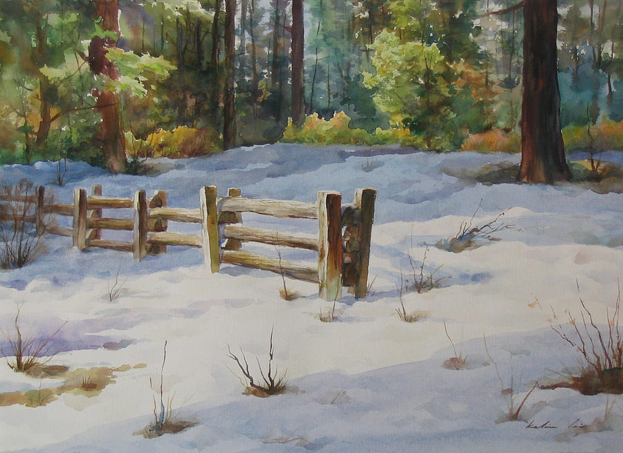 Landscape Painting - A Winter Morning by Kelvin  Lei