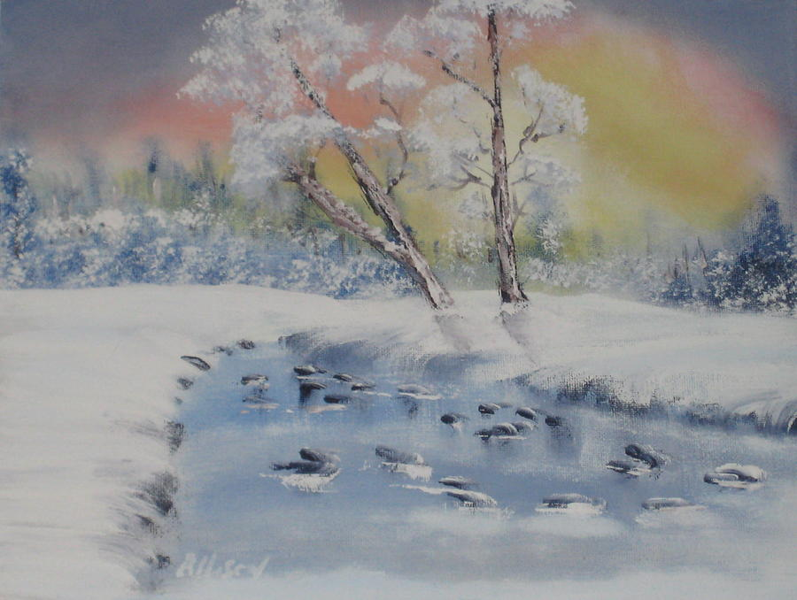 Oil Paintings Painting - A Winter Scene by Allison Prior