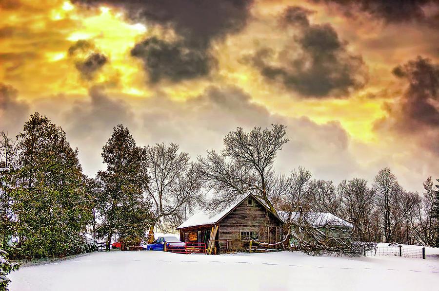 Winter Photograph - A Winter Sky by Steve Harrington