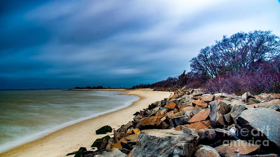 Winter Photograph - A Winters Beach by Jim DeLillo