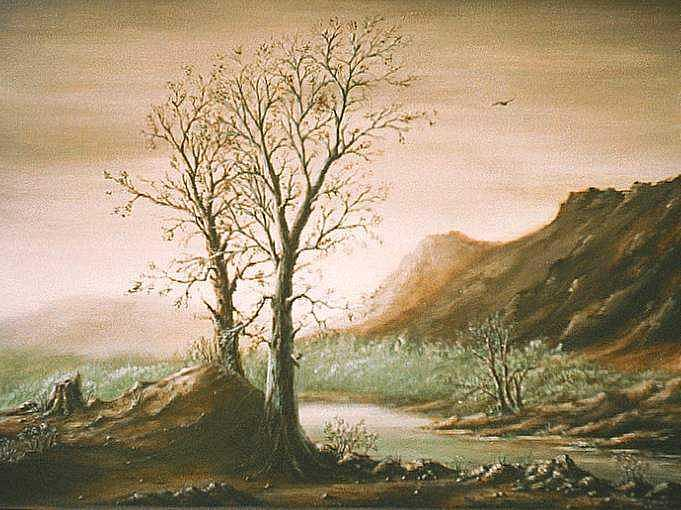 Landscape Painting - A Winters Day by Charles Griffith