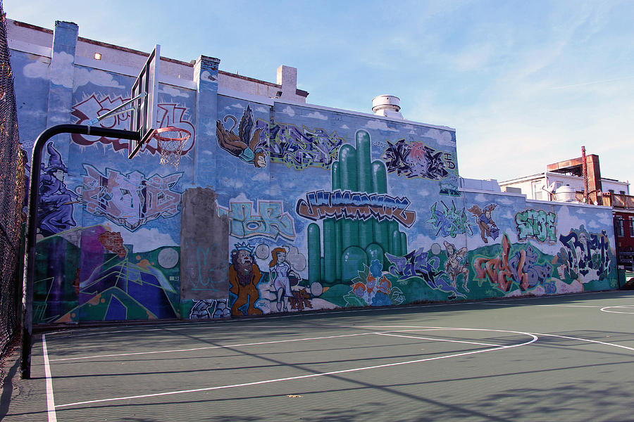 A wizard of oz mural at a basketball court photograph by for Basketball court wall mural