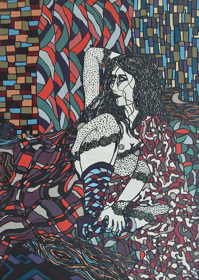 Woman Painting - A Woman Between Prints by Muniz Filho