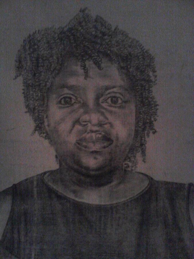 A Woman Drawing by Shadrach Muyila