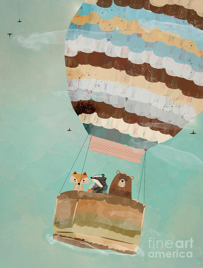 Animals Painting - A Wondrous Little Adventure by Bri Buckley
