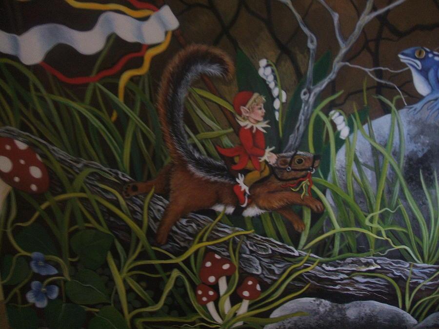Fantasy Painting - A Woodland Jaunt by Joan Barnard