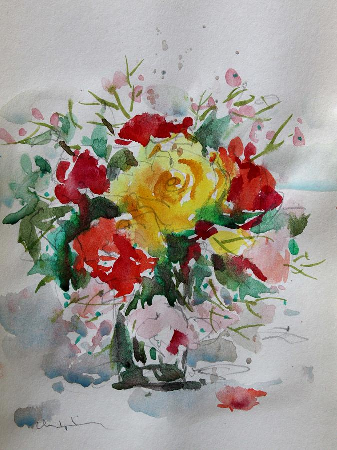 Owen Hunt Painting - A Yellow Rose by Owen Hunt