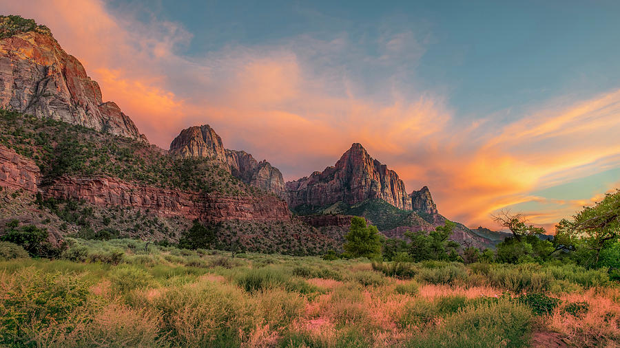 Zion Photograph - A Zion Sunset by Matthijs Bettman