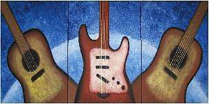 Music Painting - A22 by Colleen Winning