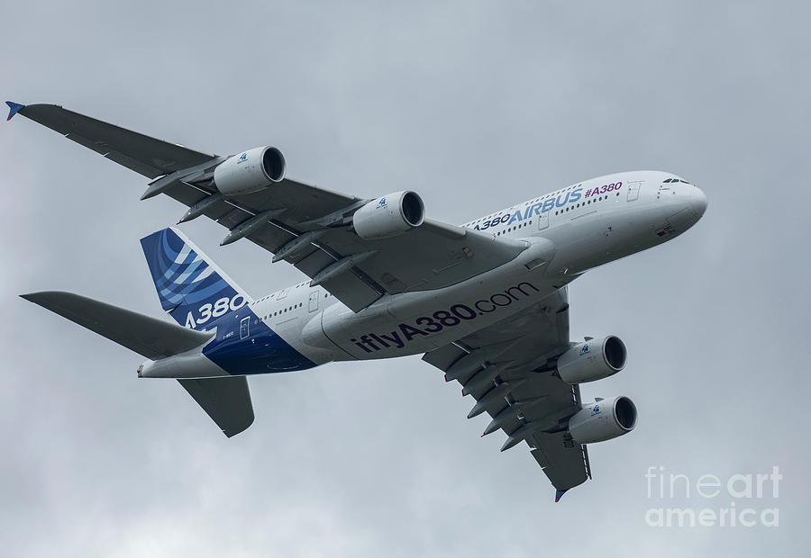 Airbus Photograph - A380 Airbus In Flight by Philip Pound