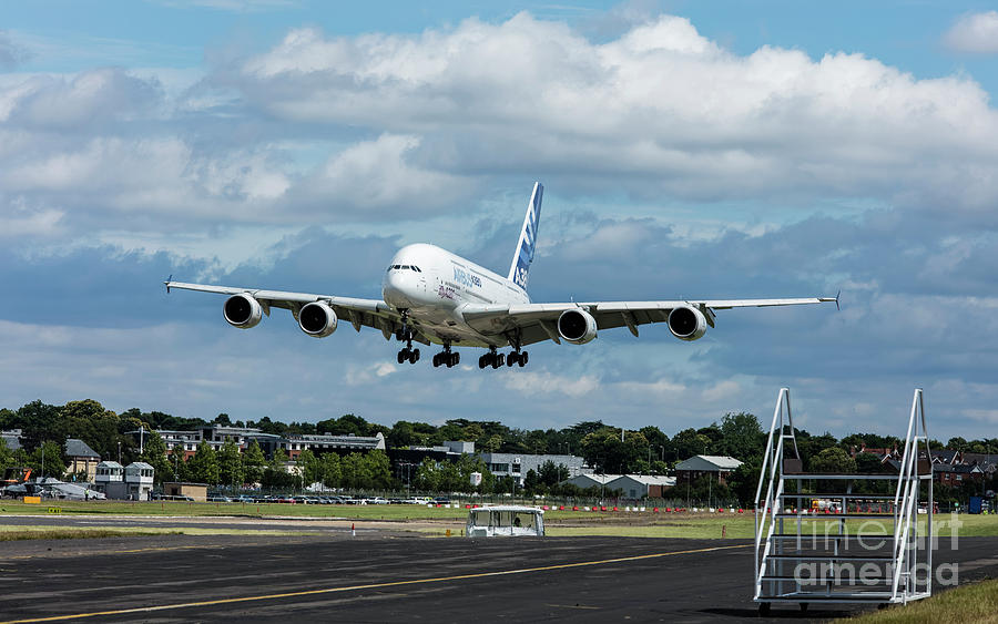 Airbus Photograph - A380 Airbus Plane Landing by Philip Pound