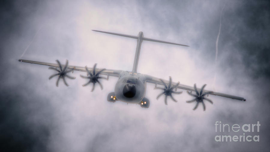 Airbus Digital Art - A400m Airbus Cloud by Nigel Bangert