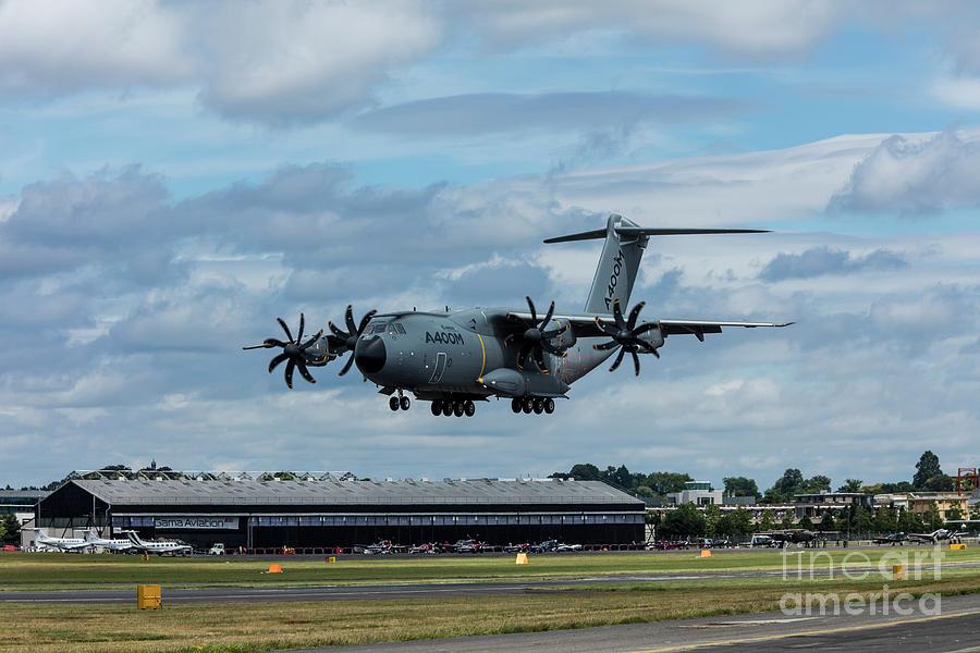 A400m Photograph - A400m Plane Lands by Philip Pound