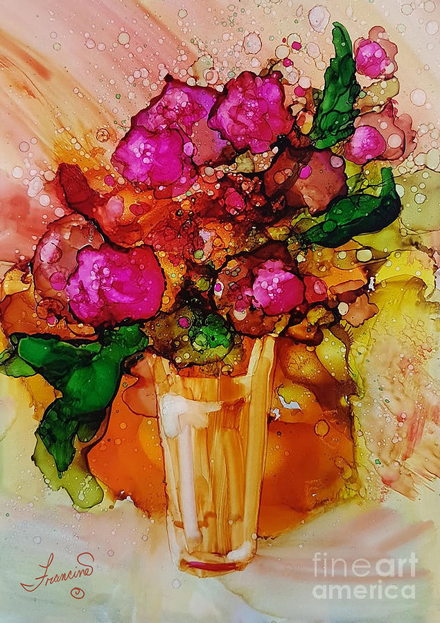 Bright Mixed Media - Aaaah Spring by Francine Dufour Jones