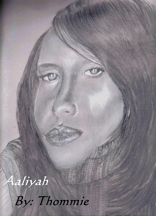 Portrait Drawing - Aaliyah by Thomasina Marks