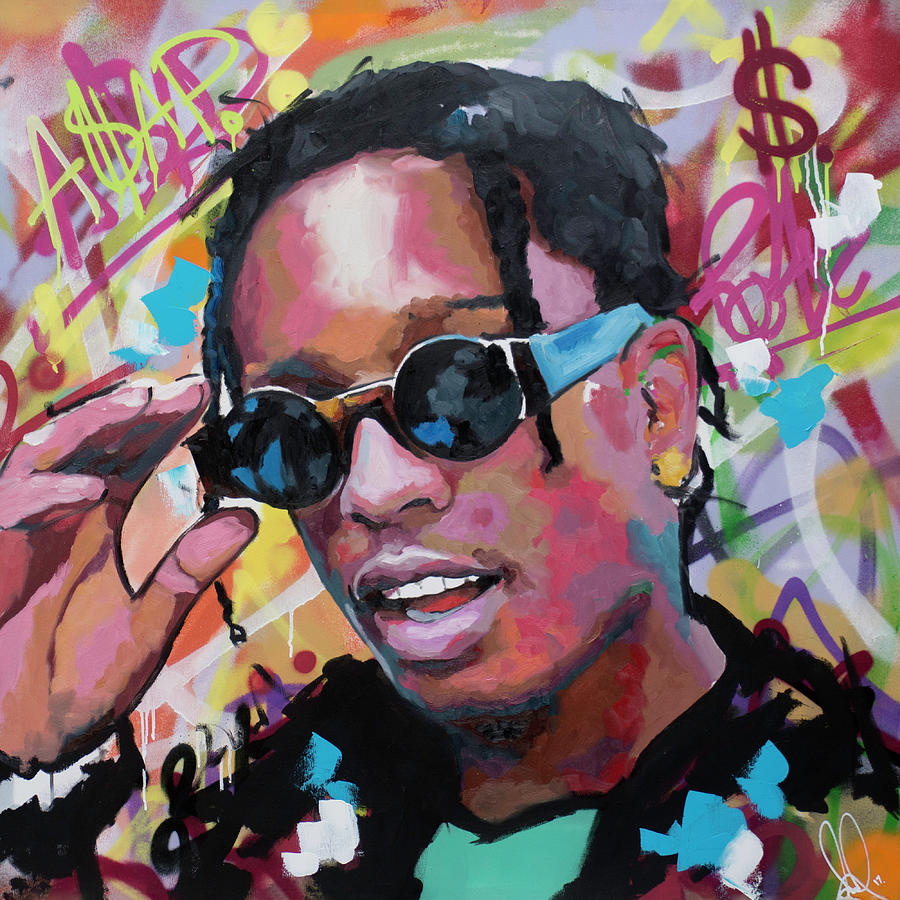 A Ap Rocky Painting By Richard Day
