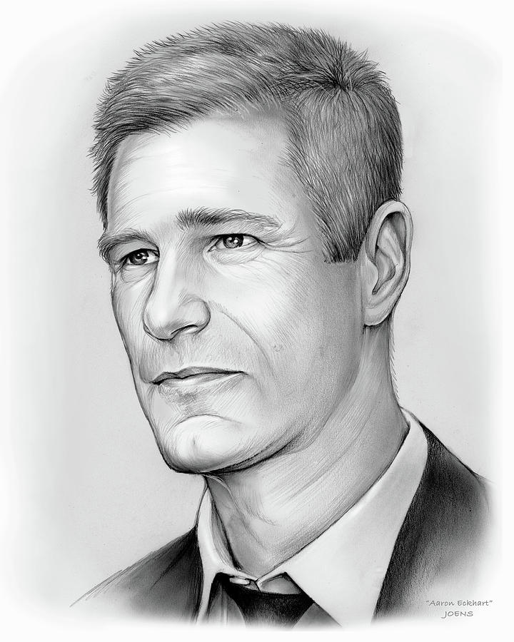Aaron Eckhart Drawing - Aaron Eckhart by Greg Joens