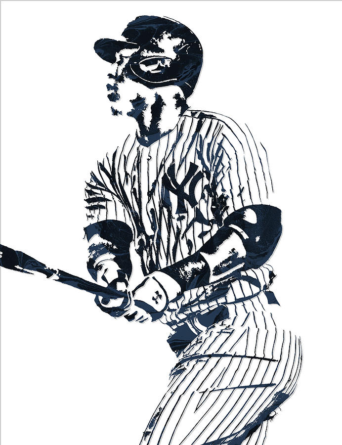 Aaron Judge New York Yankees Pixel Art 11 Mixed Media By Nyc Coloring Page