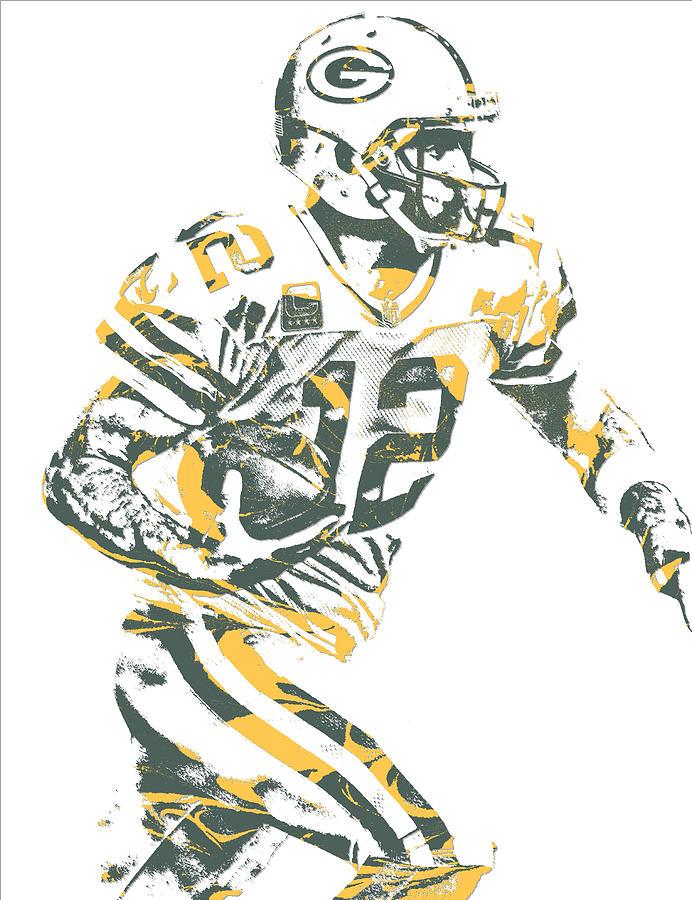 Aaron Rodgers Mixed Media - Aaron Rodgers Green Bay Packers Pixel Art 22 by Joe Hamilton