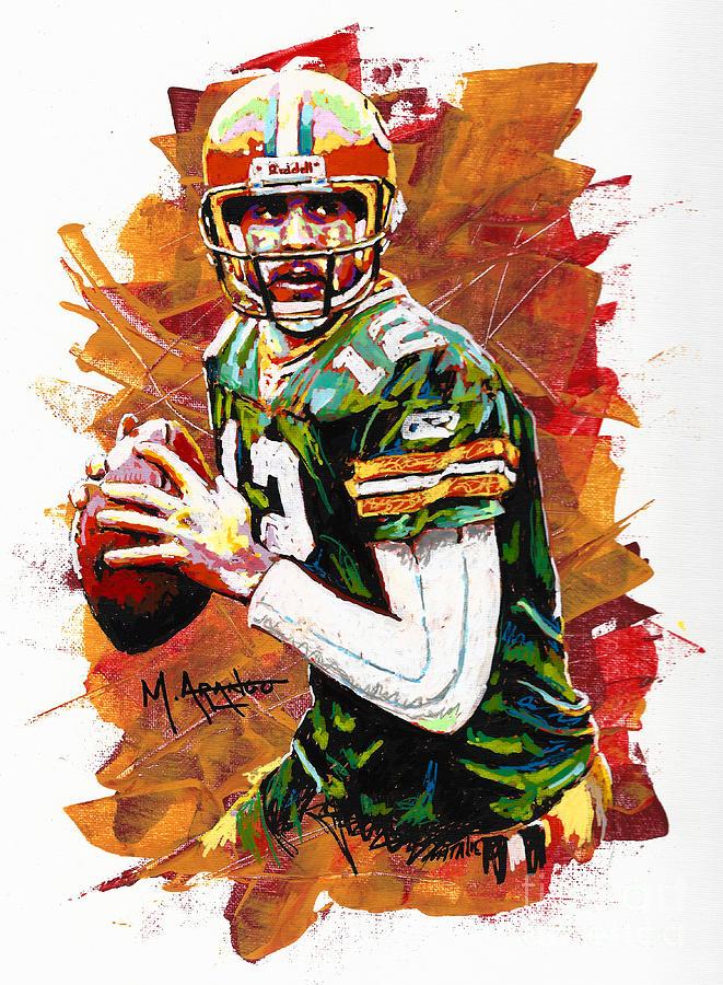 Aaron Painting - Aaron Rodgers by Maria Arango