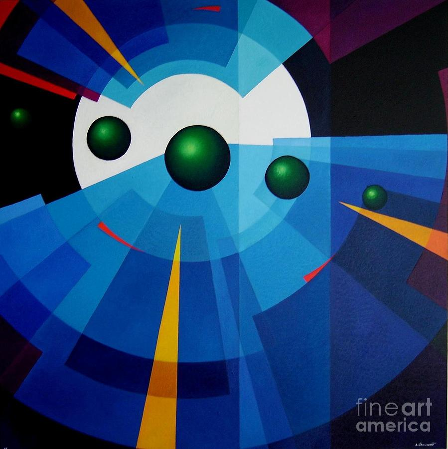 Geometric Abstract Painting - Ab Oculum by Alberto DAssumpcao