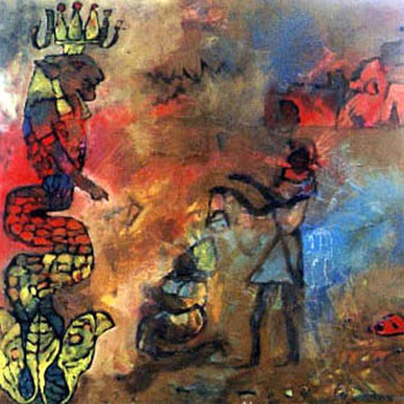 Abstract Painting - Abad Mac by Islam Kamil