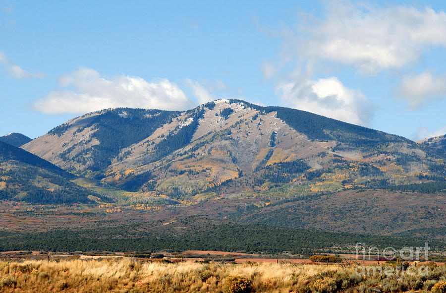 Landscape Photograph - Abajo Mountains Utah by David Lee Thompson