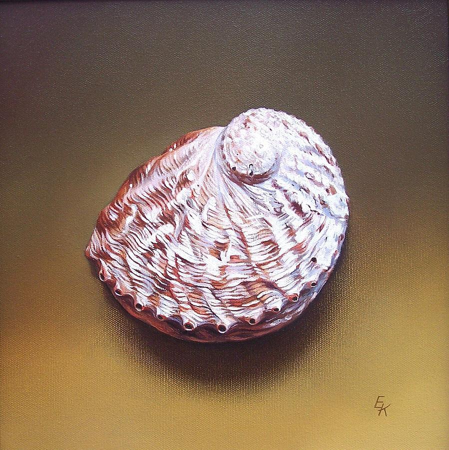 Shell Painting - Abalone Shell - B by Elena Kolotusha