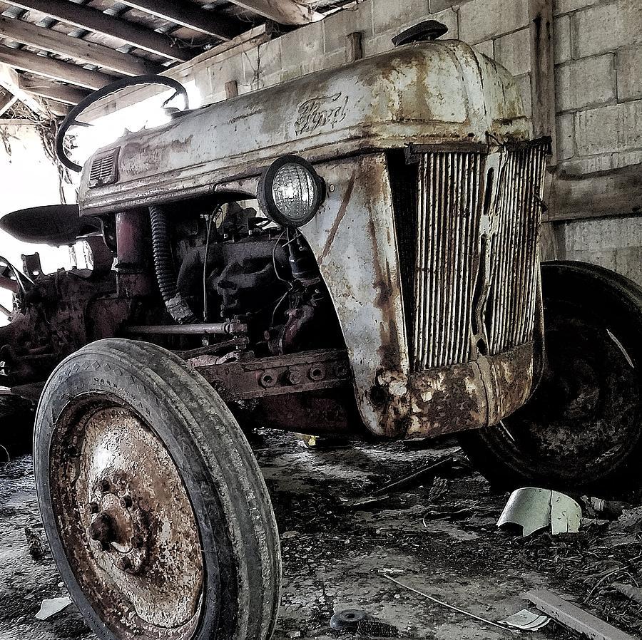 Abandon Photograph - Abanded Tractor 3 by Ed Lumbert
