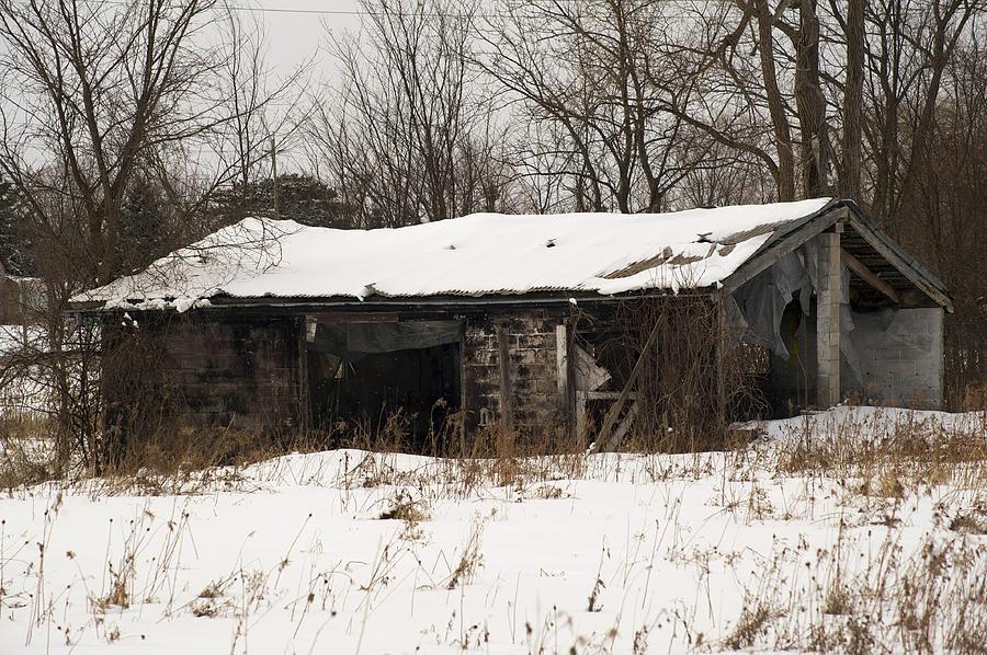 Abandoned Photograph - Abandoned And Cold by Elaine Mikkelstrup