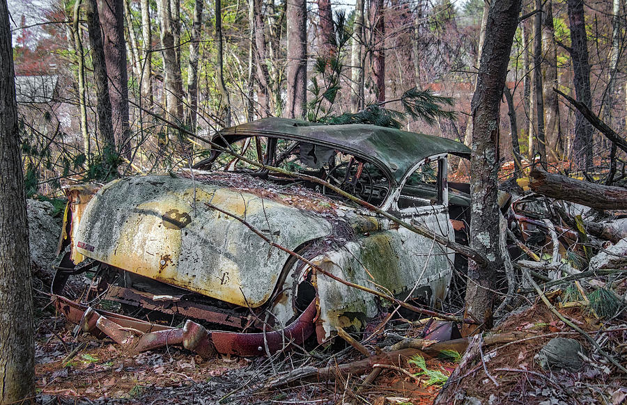 Abandoned Antique Chevy Car by Betty Denise