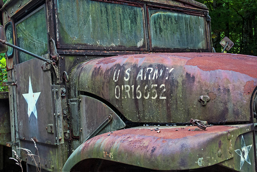 Abandoned Army Truck 2 by Ginger Wakem