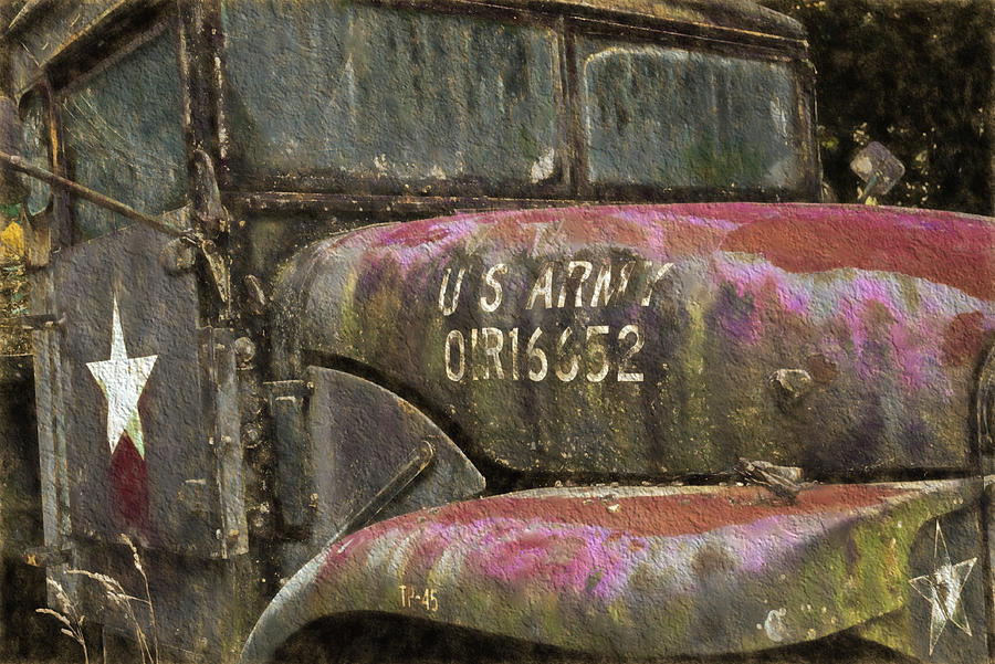 Abandoned Army Truck by Ginger Wakem