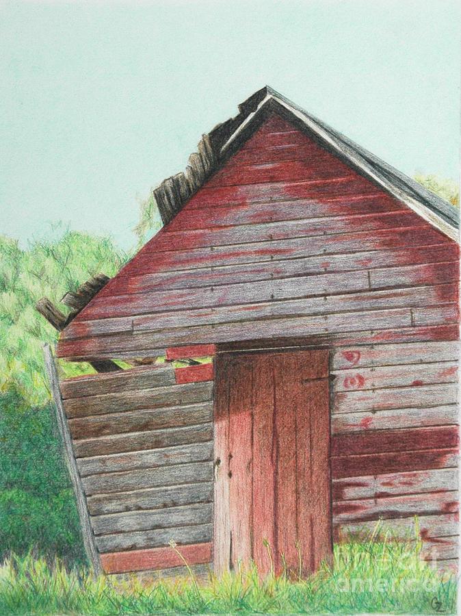 Abandoned Barn Drawing