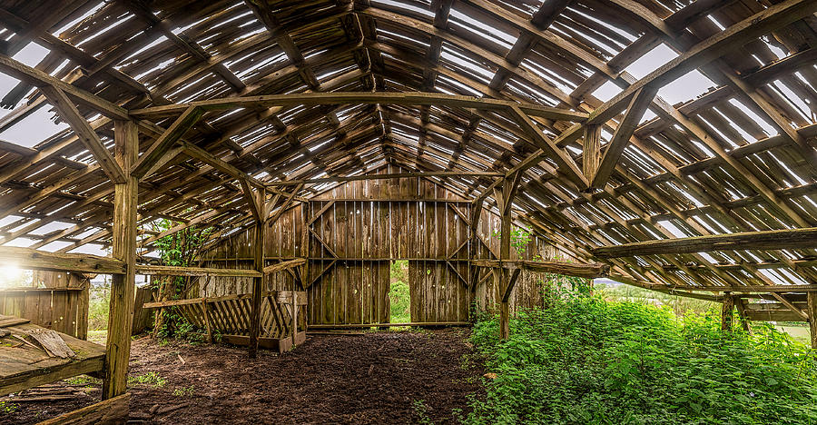 Abandoned Barn Interior Photograph By Jeffrey Schwartz