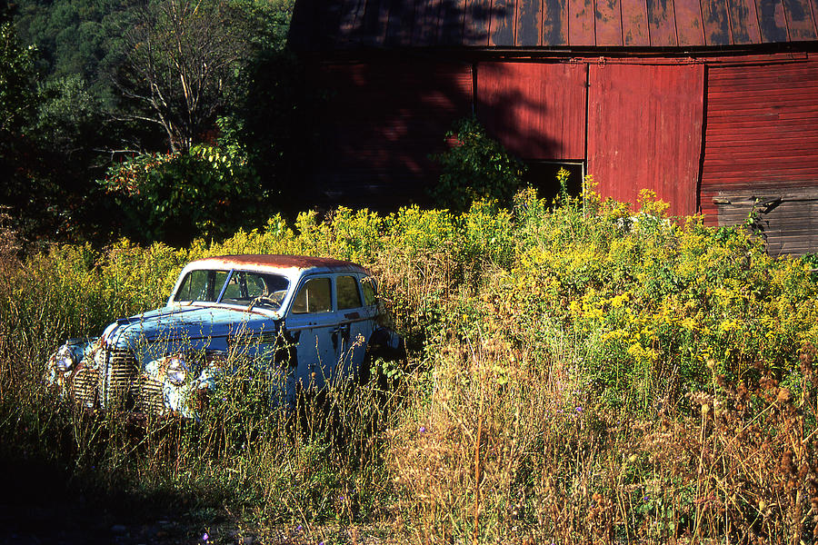 Car Photograph - Abandoned by Barry Shaffer