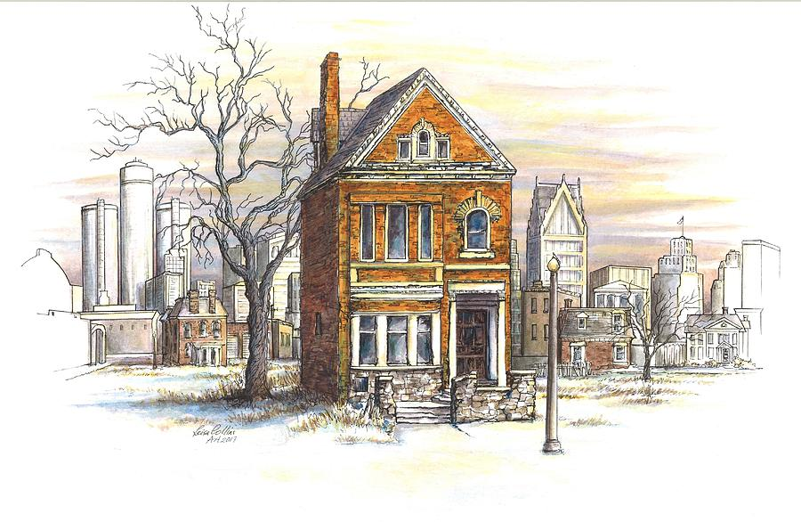 Detroit Painting - Abandoned Beauty, Detroit by Leisa Collins
