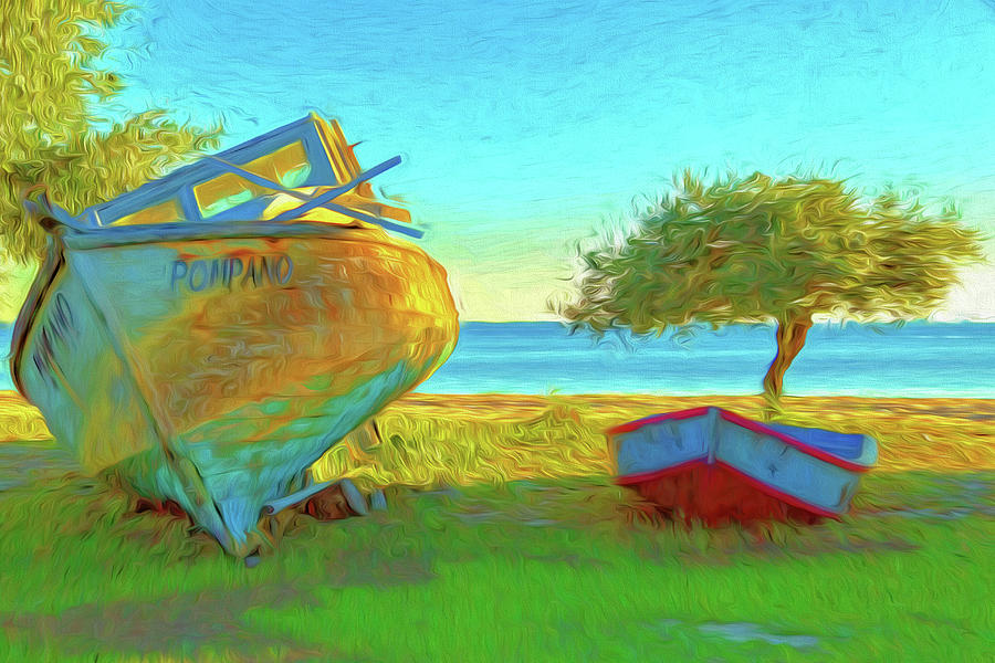 Boats Photograph - Abandoned Boats On Choctawhatchee Bay by Kay Brewer