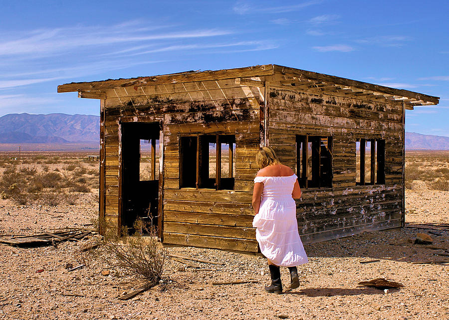 Desert Photograph - Abandoned Building California by Bill Mollet