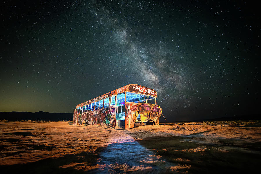Abandoned Bus under the Milky Way by James Udall