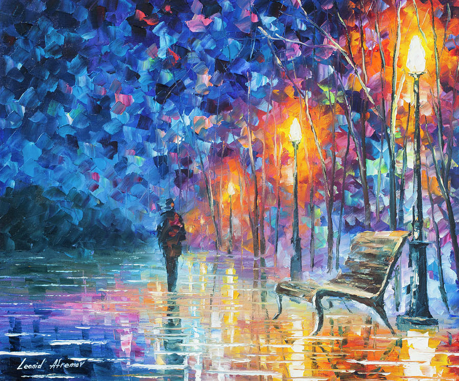 Painting Painting - Abandoned By Winter by Leonid Afremov